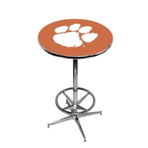 Clemson Tigers College Logo Pub Table   moneymachines.com