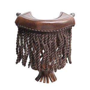 Dark Brown Leather With Dark Brown Fringe Pool Table Pockets | moneymachines.com