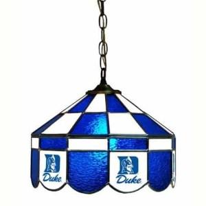 Duke Blue Devils Stained Glass Swag Hanging Lamp | moneymachines.com