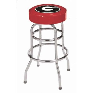 Georgia Bulldogs College Logo Double Rung Bar Stool | moneymachines.com