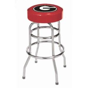 Georgia Bulldogs College Logo Double Rung Bar Stool | moneymachines.com