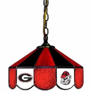 Georgia Bulldogs Stained Glass Swag Hanging Lamp | moneymachines.com