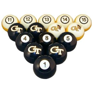 Georgia Tech Yellow Jackets Billiard Ball Set | moneymachines.com