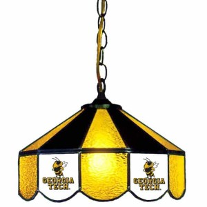 Georgia Tech Yellow Jackets Stained Glass Swag Hanging Lamp | moneymachines.com