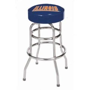 Illinois Fighting Illini College Logo Double Rung Bar Stool | moneymachines.com