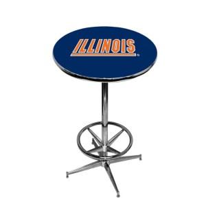 Illinois Fighting Illini College Logo Pub Table | moneymachines.com