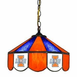 Illinois Fighting Illini Stained Glass Swag Hanging Lamp   moneymachines.com