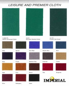 Imperial Cloth Colors | moneymachines.com