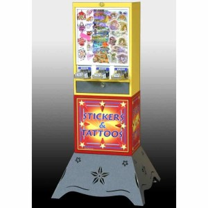 Impulse 3 Column Sticker Tattoo Vending Machine With Deluxe Base | moneymachines.com