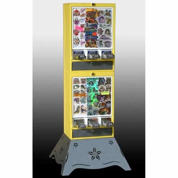 Impulse 6 Column Sticker Tattoo Vending Machine | moneymachines.com