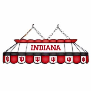 "Indiana Hoosiers MVP 40"" Tiffany Stained Glass Pool Table Lamp 