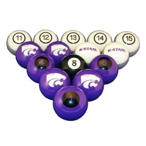 Kansas State Wildcats Billiard Ball Set | moneymachines.com