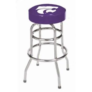 Kansas Wildcats College Logo Double Rung Bar Stool | moneymachines.com