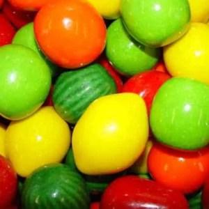 Mega Fruit Jumbo Gumballs - Case Of 2 Inch 138 Count | moneymachines.com