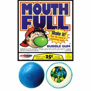 Mega Mouth Filled Gumballs - Assorted Case Of 2 Inch 138 Count | moneymachines.com