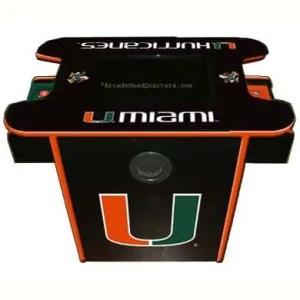 Miami Hurricanes Arcade Multi-Game Machine | moneymachines.com