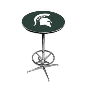 Michigan State Spartans College Logo Pub Table   moneymachines.com