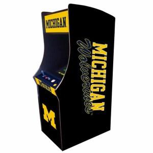 Michigan Wolverines Arcade Multi-Game Machine | moneymachines.com