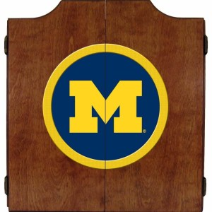 Michigan Wolverines College Logo Dart Cabinet | moneymachines.com