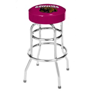 Montana Grizzlies College Logo Double Rung Bar Stool | moneymachines.com