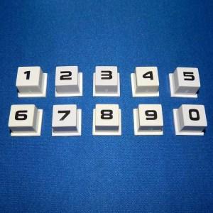 New Rowe/AMI Jukebox Keyboard Selector Number Button Set - 30743126 | moneymachines.com