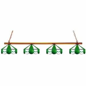 North Dakota Fighting Hawks Stained Glass Game Table Lamp | moneymachines.com