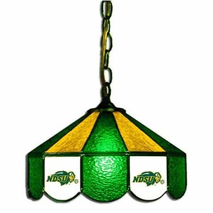 North Dakota State Bisons Stained Glass Swag Hanging Lamp   moneymachines.com