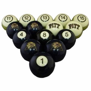 Pittsburgh Panthers Billiard Ball Set | moneymachines.com