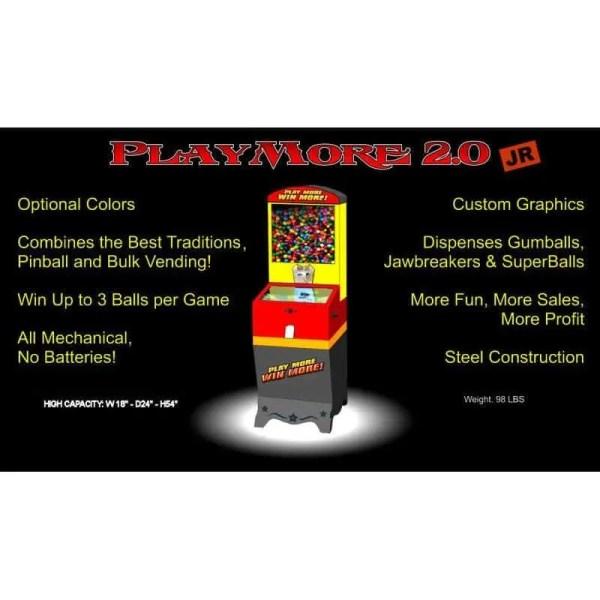 Playmore 2.0 Jr Pinball Vending Machine | moneymachines.com