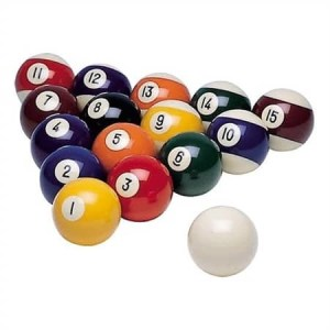 "Replacement Individual 2 1/4"" Pool Balls 