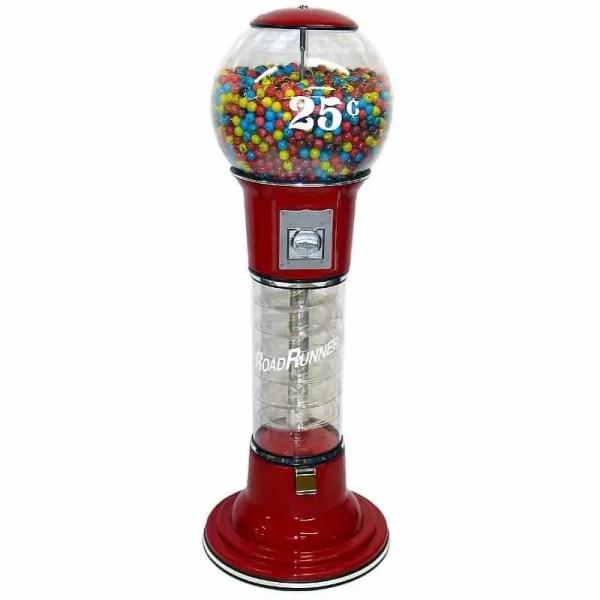 Roadrunner Spiral Gumball Vending Machine   moneymachines.com