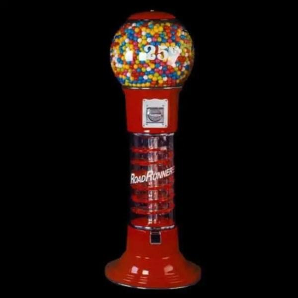 Roadrunner Spiral Gumball Vending Machine With Lights   moneymachines.com