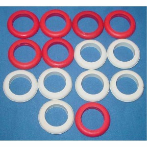 Set of 14 Standard Size Bumper Pool Table Bumper Rings | moneymachines.com