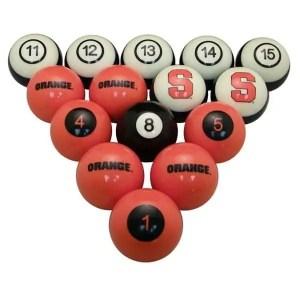 Syracuse Orange Billiard Ball Set | moneymachines.com