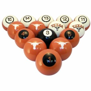 Texas Longhorns Billiard Ball Set | moneymachines.com