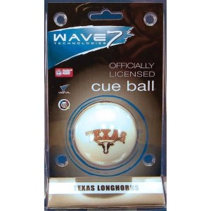 Texas Longhorns Billiard Cue Ball | moneymachines.com