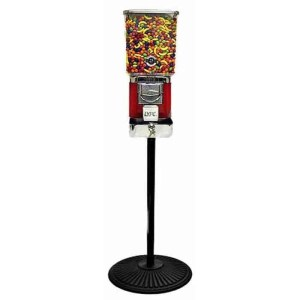 Tough Pro Gumball Vending Machine On Black Cast Iron Stand | moneymachines.com