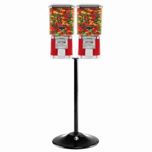 Two Pro Line Gumball Vending Machines On Double Cast Iron Stand | moneymachines.com