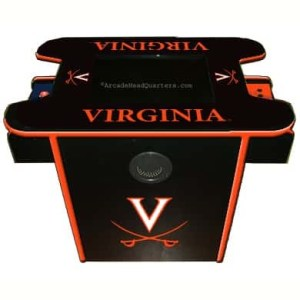 Virginia Cavaliers Arcade Multi-Game Machine   moneymachines.com