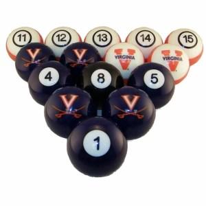 Virginia Cavaliers Billiard Ball Set   moneymachines.com