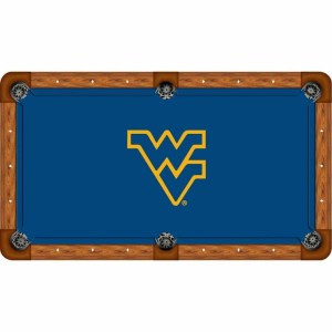 West Virginia Mountaineers Billiard Table Cloth | moneymachines.com