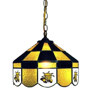 Wichita State Shockers Stained Glass Swag Hanging Lamp | moneymachines.com
