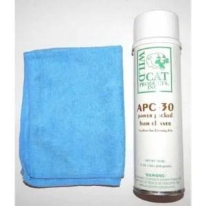 Wildcat APC-30 Pool Table Felt & Billiard Cloth Cleaner & Microfiber Cloth | moneymachines.com