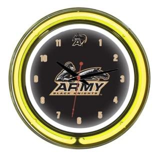 Army Black Knights Neon Wall Clock   Moneymachines.com