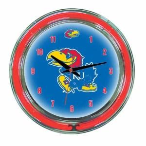 Kansas Neon Wall Clock | moneymachines.com