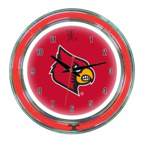 Louisville Neon Wall Clock | moneymachines.com