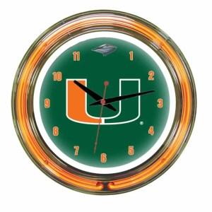 Miami Neon Wall Clock   moneymachines.com