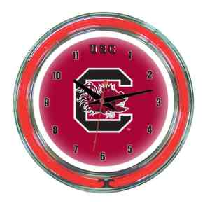 South Carolina Neon Wall Clock | Moneymachines.com
