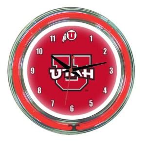 Utah Utes Neon Wall Clock | Moneymachines.com