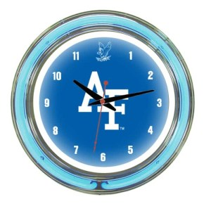 Air Force Falcons Neon Wall Clock | Moneymachines.com